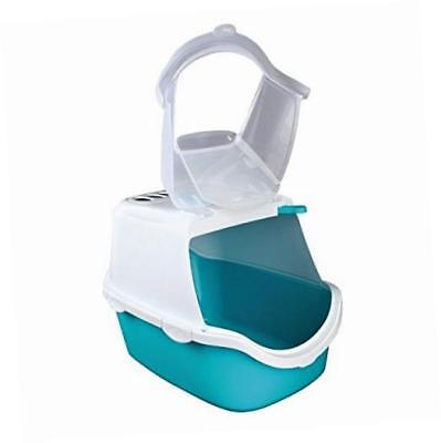 Trixie Vico Easy Clean Cat Litter Tray with Dome 40 x 40 x 56 cm Turquoise/White
