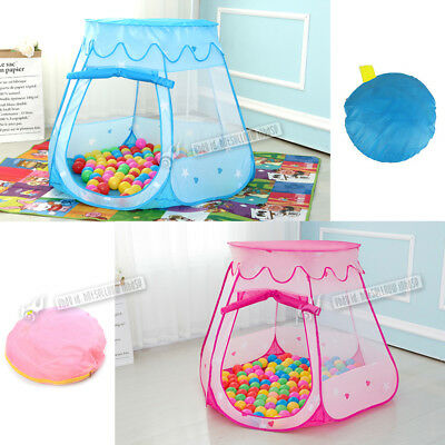 Pop Up Play Tent Girls Princess Castle Play House Ocean Ball Pit Pool