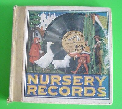 Vintage His Master's Voice NURSERY RECORDS book - First Series