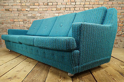 70er 4er LOUNGE SOFA DANISH MODERN COUCH SETTEE SCHLAFSOFA CLUB DAYBED VINTAGE