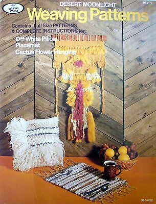 Desert Moonlight Vintage Booklet - WEAVING PATTERNS - Full-size Patterns - VGC