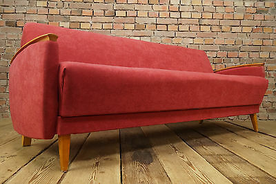50er rockabilly cocktail sofa bett daybed couch vintage for Schlafsofa 70er