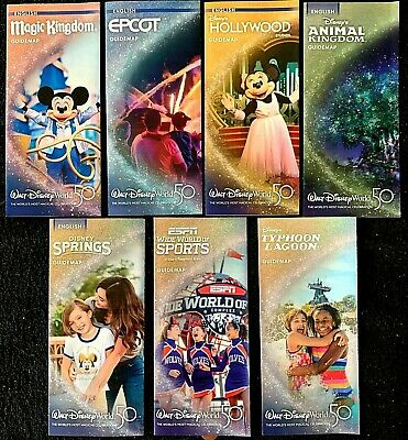 NEW 2020 Walt Disney World Theme Park Guide Maps -7 Current Maps + Bonus RARE!!
