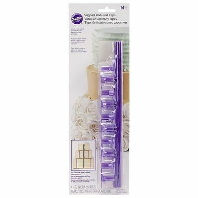 Wilton Support Cake Dowel Rods & Caps 14pc - Cake Decorating and Sugarcraft