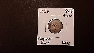 1835 Capped Bust Dime! 89% Silver! Free Shipping!