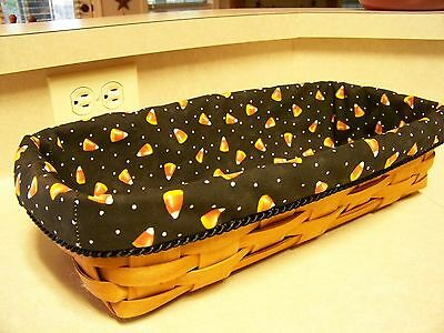 hALLOWEEN! Bread Basket Liner from Longaberger Candy Corn Fabric