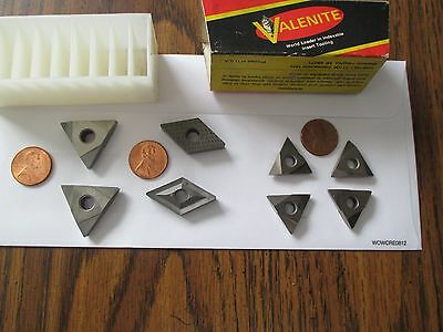 VALENITE CARBIDE INSERTS 8 in total