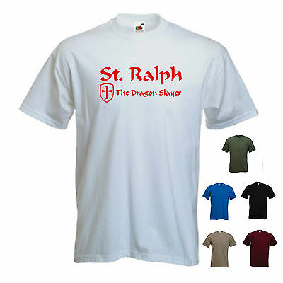 'St. Ralph - The Dragon Slayer ' Men's St George's/ Georges Day England T-shirt