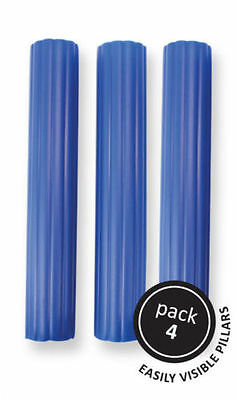 "PME 4pk 6"" Blue Plastic Hollow Pillars Support Wedding Tiered Cake Dowel Rods"