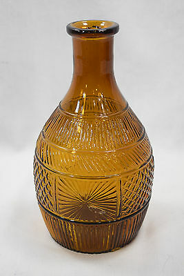 Clevenger Bros - Blown Three Mold - Amber - Stoddard - Bottle - 8 1/4""