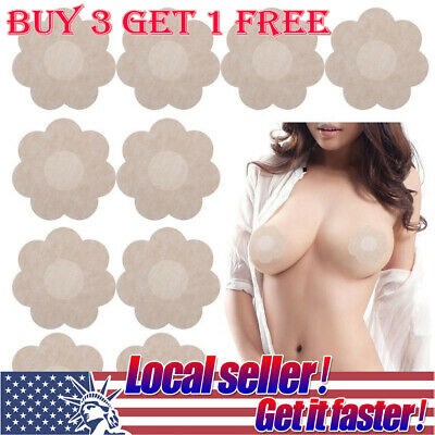 US SHIP Invisible Breast Nipple Pasties Cover Nude Bra Pad Self Adhesive Sticker