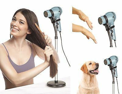 Drying & Styling Hair Dryer Stand for Hands Free Blow Drying Floor or table use