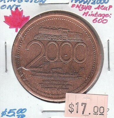Kingston Ontario Canada - Trade Dollar - 2000 Antique Copper Plated
