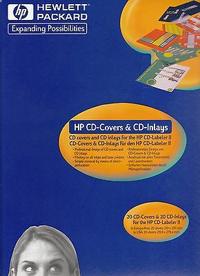 .HP CDX8020A CD Covers and Inlays (20-Pack) - NIB