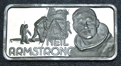 HAMILTON MINT ONE TROY OZ. .999 SILVER -Our Greatest Americans NEIL ARMSTRONG