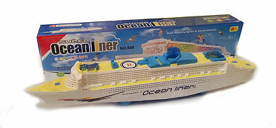 KIDS Colorful Ocean Liner Cruise Ship Boat Electric Flashing LED - Cruise ship sound effects