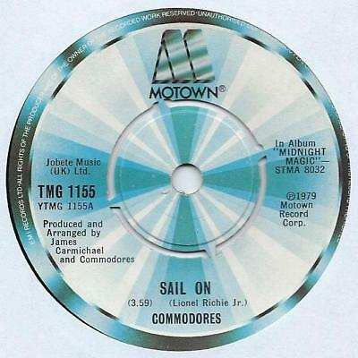 """Commodores - Sail On - 7"""" Single"""