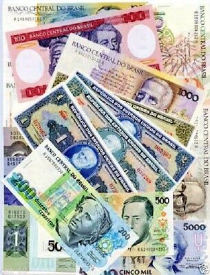 Brazil Special Set Of 24 Different Uncirculated  Banknotes,,Free Shipping to US.