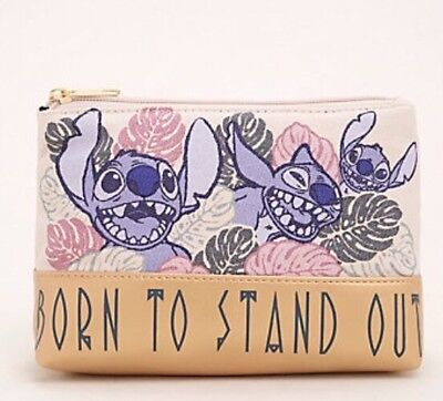 Disney Lilo & Stitch Born To Stand Out Cosmetic Make-Up Tote Bag Purse NWT!