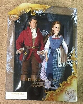 Disney Store Beauty & The Beast Live Action Film Belle & Gaston Doll Set NIB!