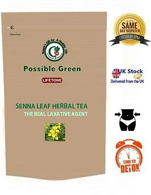Senna leaf herbal tea, the real laxative and detox agent, 20 tea bags 40 grams