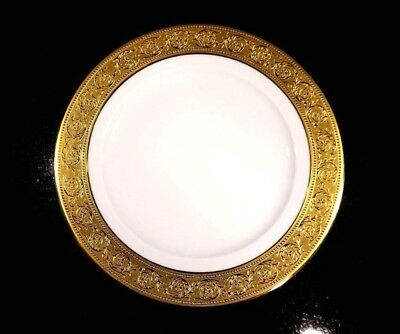 Beautiful Haviland Limoges Thistle Gold Lunch Plate