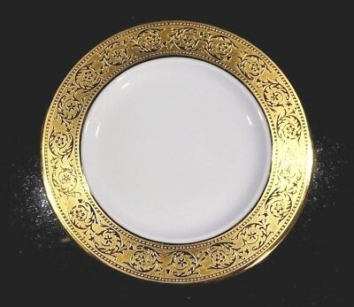 Beautiful Haviland Limoges Thistle Gold Bread Plate