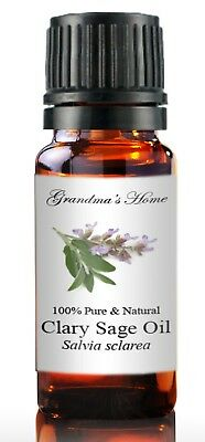 Clary Sage Essential Oil - 10 mL 100% Pure and Natural Free Shipping - US Seller