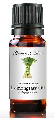 Lemongrass Essential Oil - 10 mL 100% Pure and Natural Free Shipping - US Seller