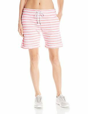 New Calvin Klein Performance Women's Quick Dry Striped Boucle Active Shorts $39