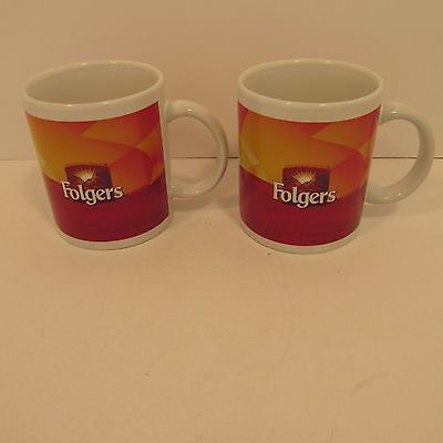 Vintage Folgers Coffee Cups x 2 Ships for Free
