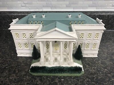 "Department 56 American Pride Collection ""The White House"" Porcelain Bldg 2001"