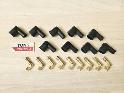Ignition Socket Distributor Boots & Terminals Kit Set 9 Right angle 90 Black