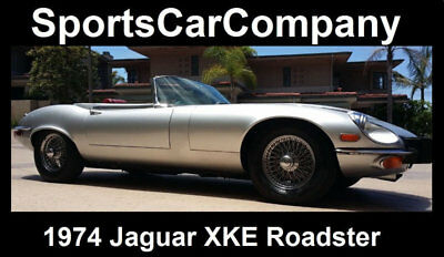 1974 Jaguar E-Type  1974 JAGUAR XKE ROADSTER METALLIC SILVER/RED SUPERIOR CAR INSIDE+OUT Reduced$10k