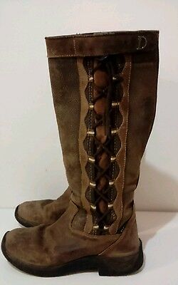 DUBLIN Pinnacle Paddock Boots Ladies 7 Brown Exc Condition Pull On with Lacing