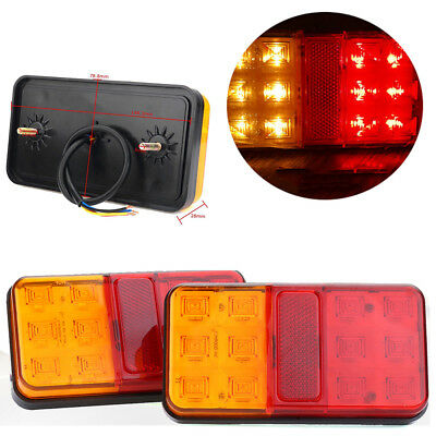 2X 12 Led Trailer Lights Tail Lamp Stop Indicator 12V 4Wd 4X4 Boat Submersible !