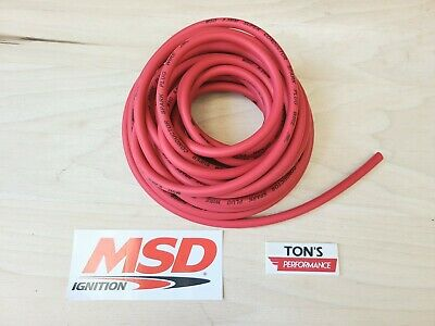 MSD Ignition 34019 Red 25ft Length 8.5mm Super Conductor Spark Plug Wire Rolls