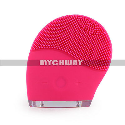 Electric Sonic Silicone Facial Cleansing Brush Exfoliator Body Washing Massager