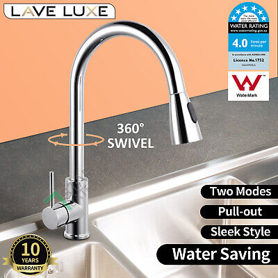 Commercial Pull Out Kitchen Laundry Sink Basin Mixer Tap Pre Rinse Faucet Chrome
