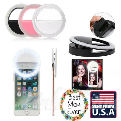 Selfie Portable LED Ring Fill Light Rechargeable for iPhone Universal Phone AX