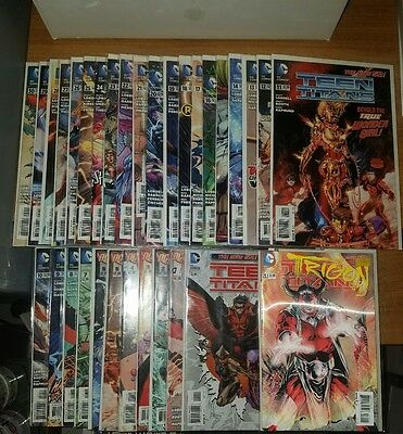 Teen Titans Complete Set #0,#1-#30 +Lenticular 23.1 New 52 DC Comics Flash Raven