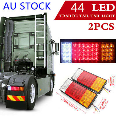 2X 44 Led Trailer Lights Tail Lamp Stop Indicator 12V 4Wd 4X4 Boat Submersible !