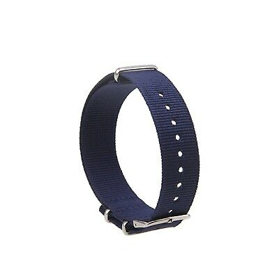 (18mm, royal blue A) - Possbay Unisex Men Women Nylon Watchband Watch Strap Belt