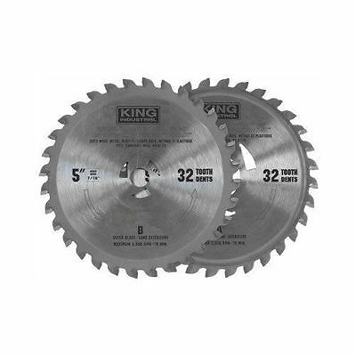 "King Canada Tools KW-9101 5"" TCT UNIVERSAL BLADE SET double cut saw wood plastic"