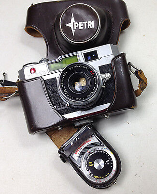 Vintage PETRI Oricor Camera and KALIMAR Exposure Meter  A-1 Made in Japan