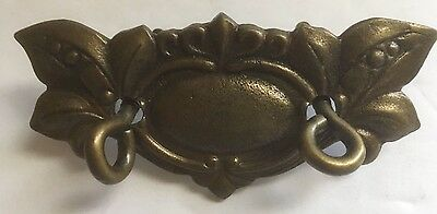 Vintage Brass Small Ornate Floral Dual Screw Decorative Ornament Art Mountable