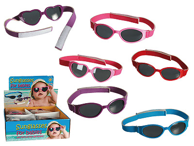 Sunglasses For Babies With Velcro Closure 100% Eye Protection Uv400 - Age 0-3+