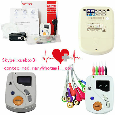 CONTEC Portable Dynamic ECG Recorder 48h 12 lead Holter TLC6000 OLED+Software,CE