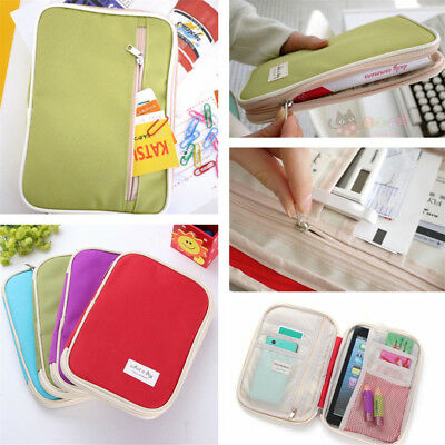 Travel Passport Credit Card Ticket Holder Document Organizer Bag Wallet Case