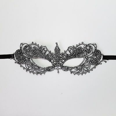 Silver Painted Lace Mask 50 Shades Darker Masquerade Venetian Female Party Mask